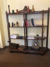 Échelle en bois très rare pour la bibliothèque