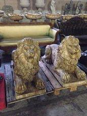 lions de marbre