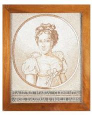 """""""Sei ritratti della Famiglia Reale del Regno delle due Sicilie """" in micromosaico di perline di fiume del '700"""