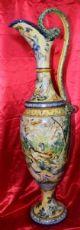 Amphora майолика окрашена и украшена мифологические сцены - Неаполь? - «800