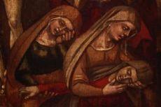 coppia di piccoli dipinti su rame con cornice