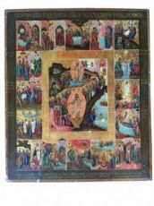 Icon the Twelve Feasts - Russia -