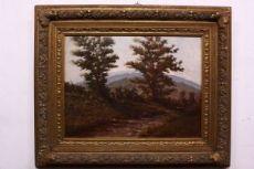 Dipinto antico paesaggio inizio 900, olio su tavola firmato / painting / antique