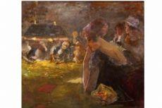 Pompeo Mariani, Al tappeto verde, 1916