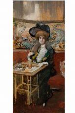 Pompeo Mariani  Signora al Bar Etoile a Milano, 1903