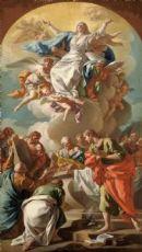 Francesco Narici (Sestri Ponente, 1719-1785) - L'Assunzione della Vergine, bozzetto preparatorio.