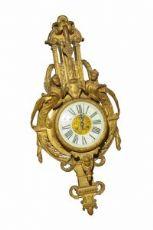 Orologio da parete in bronzo dorato Francia Sec XIX