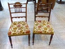 Gruppo di 2 sedie Regina Vittoria