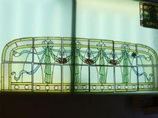 vetrata per finestre fine ottocento, steined glass, Bleiverglasung um 1900