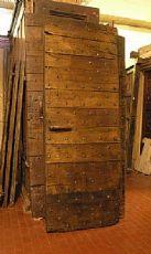 ptcr271 Tür mit Nägeln in Kastanien-mis.h 200 x 77 cm