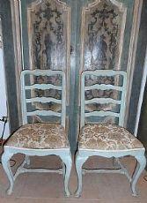 6 chaises laquées toscane