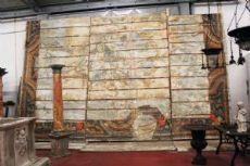 """Ancient ceiling in chestnut boards coordinated with door. Epoca 1600"""""""