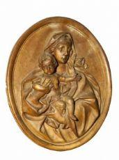 Madonna col Bambino ,Scagliola patinata terracotta.Bologna Sec XVIII
