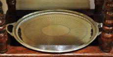 Vassoio ovale in silver plate