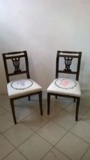 Coppia di sedie neoclassiche