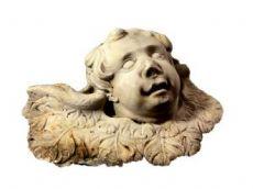 17 ° secolo marmo scolpito testa Putto