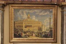 Dipinto raffigurante la piazza di Montecitorio, prima metà del '900