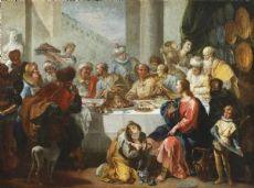 Francesco Fontebasso (Venice 1709-1769) - Dinner at the Pharisee's house