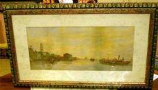 Aquarelle de Chioggia Venezia sec. XIX