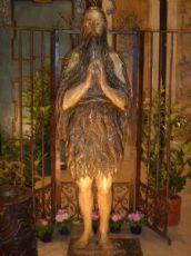 Деревянная статуя с изображением св Onofrio. Период пятнадцатого века