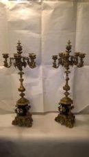 coppia candelabri bronzo dorato