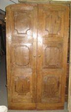 02 Lombard portas 2 portas em madeira de nogueira.