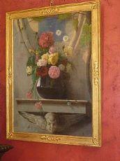 Dipinto olio su tela Vaso di Fiori. fine '800