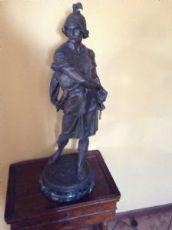 scultura in antimonio, fine Ottocento, cm. 80