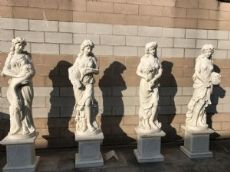 Marble statues of the four seasons of 205h