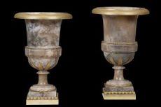 Vasi alabastro e bronzo