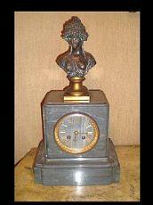 cheminée horloge, XIX SIECLE