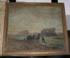 pan161 des neunzehnten Jahrhunderts die Malerei mit ländlichen Szene