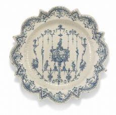 Große Schale Starry Form Fabrik Rossetti, Torino 1735 über