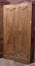 ptci369 Tür Eiche Verzeichnis, mis. 115 x H 204 x 4 cm dick