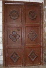 ptci377 Tür mit geschnitzten Paneelen, mis. h 208 cm x 132 cm