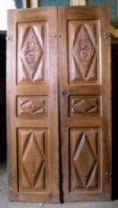 ptci400 Eingangstür in Nussbaum 700, mis. h 230 x 121 cm Breite.