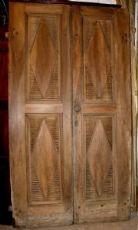 ptci416 Tür in Nussbaum Ende 700 mes. H252 cm in der Breite. 136 cm