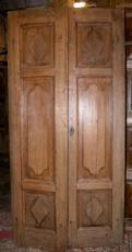 PTCI puerta 417 de roble en la final '800, Piamonte, que mide 214 x 108 h cm de ancho.