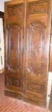 puerta ptci417 en castaños de época '700 mis. h 230 cm x 110 cm de ancho.