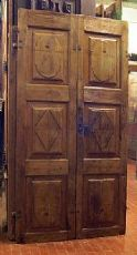 ptcr258 Tür mit Walnuss Paneele mis.105 x 205