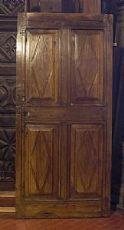 ptcr259 Tür in Nussbaum Raute mis.91 x 195 cm spess.5