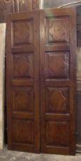 puerta pti535 nogal ocho paneles, mis. h 225 cm x 113 cm