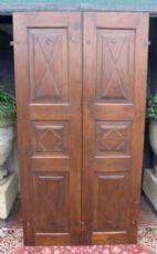 porta pti554 em nogueira com duas portas pastilhas, mis. h 207 cm x larg. 109 cm, espessura. 2,8 cm