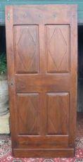 porta ptci462 em porta em madeira de nogueira com quatro diamantes, vintage '700 piemontês H210 x 92,5