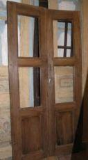 pti560 une porte à deux portes en noyer, mis. cm 200 x 100 x 3.3