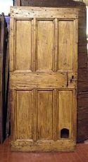 ptir253 Tür rustikalen Pappel mis.195 x 90cm