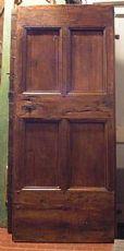 ptir306 eine Walnuss Tür mit vier Platten, mis.88x205 cm