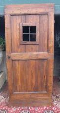 ptir403 porta rústica com janela, larício, mis. cm 89 x 198 x 5,5