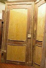 ptl286 coppia di porte Luigi XVI in lacca mis. cm112 x 235h