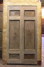 2 Ähnliche ptl351 Türen mit faux Marmor Rahmen, mis. h cm222/230 x Breite. cm 137/140